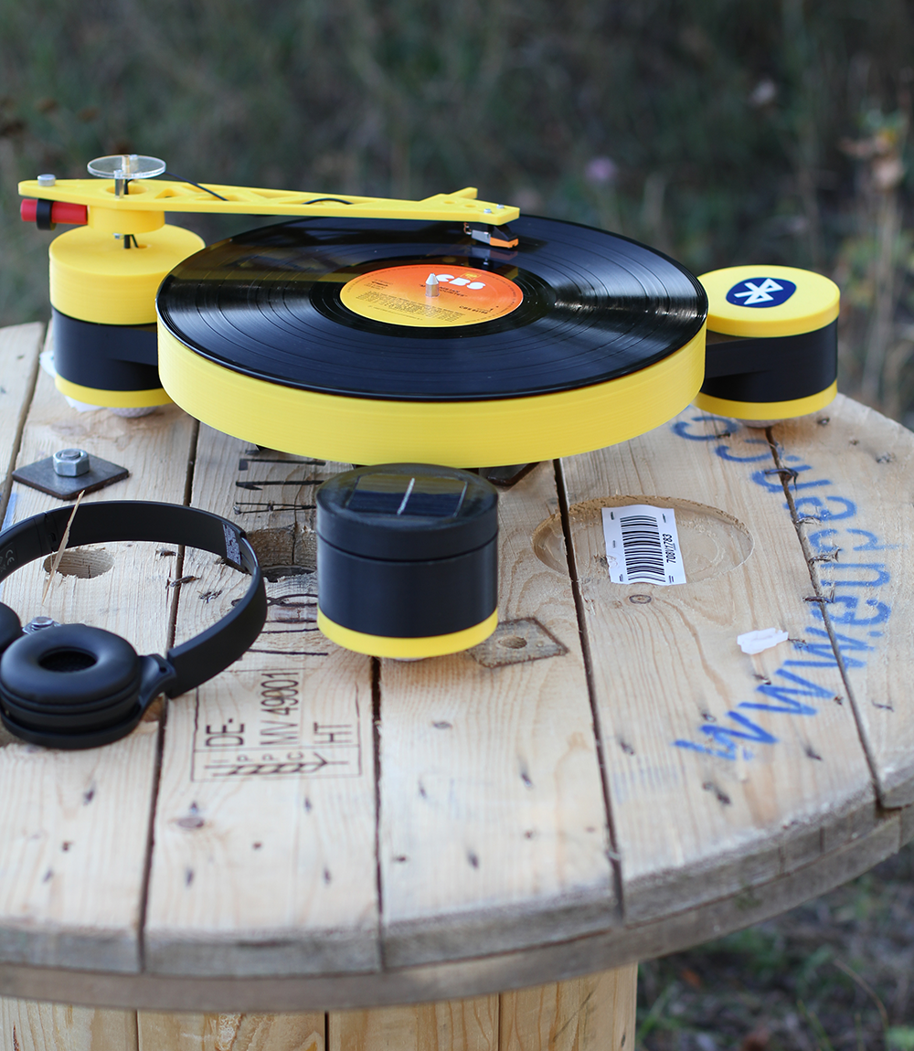 3D printed record player