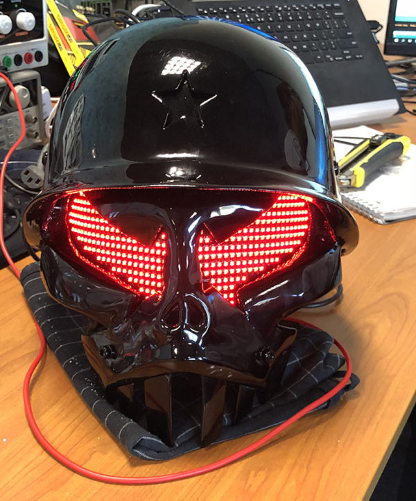 Interactive DJ helmet